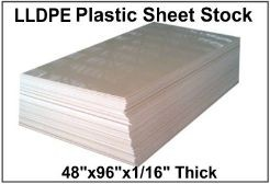 "LLDPE Plastic Full Sheet, 48"" x 96"""