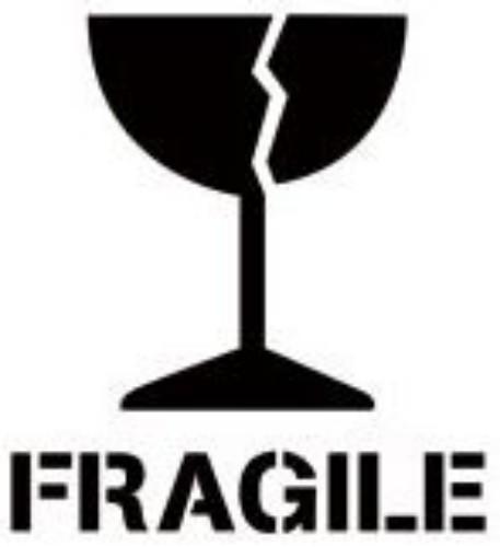 Fragile Freight Marking Stencil