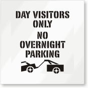 Day Visitors Only No Overnight Parking