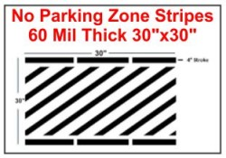 "30"" No Parking Zone Stripes"