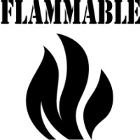 "6"" Flammable Safety Symbol Stencil"