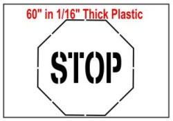 Stop Sign Stencil