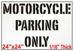 Motorcycle Only Stencil