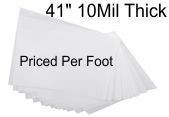 Mylar plastic roll stock priced per foot