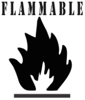 "12"" Flammable Safety Symbol Stencil"