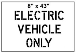 Electric Vehicle Stencil
