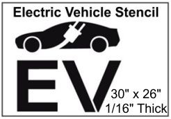 Electric Vehicle Charging Station Stencil