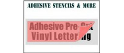 Vinyl Stencils with Adhesive