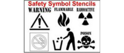Safety Symbols Stencil Sets