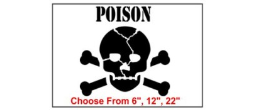 Poison Safety Symbol Stencil