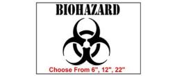 Biohazard Safety Symbol Stencil