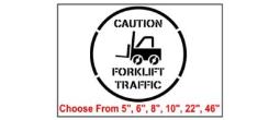 Forklift Safety Symbol Stencil