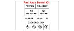Pool Area Stencil Kit