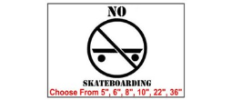 No Skateboarding Safety Symbol Stencil