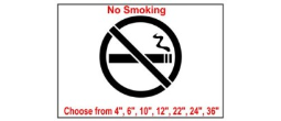 No Smoking Safety Symbol Stencil