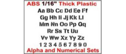 Alpha and Numerical Stencil Sets in ABS 1/16