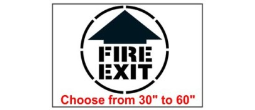 Fire Exit Safety Symbol Stencil