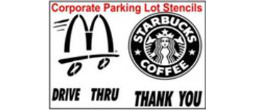 Custom Corporate Logo Parking Lot Stencil