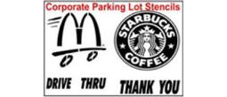 Custom Corporate Logo Parking Lot Stencil
