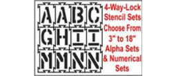 Interlocking 4-Way-Lock Stencil Sets