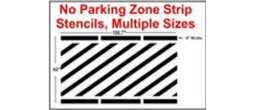 Parking Line Stripping Stencils