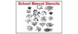 Mascot and Team School Stencils
