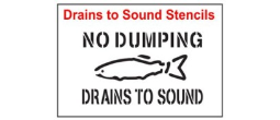 Drains to Sound Stencil Sets, Qty. 1, 10 and 50 Pack