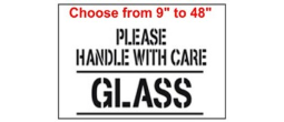 Please handle with care, GLASS Stencil