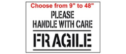 Please handle with care, FRAGILE Stencil