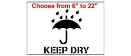 Keep Dry Stencil
