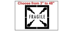 Fragile Symbol Stencil