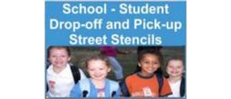 School Drop-Off and Pick-Up Street Stencils
