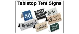 Custom Tabletop Tent Signs