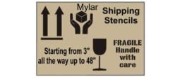 Shipping Stencils in Mylar Plastic