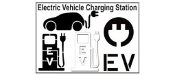 EV Electric Vehicle Charging Station Stencils