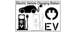 EV Electric Vehicle Charging Station Stencils