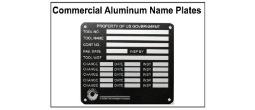 Anodized Aluminum Nameplates