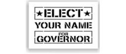 Elect Governor Stencils
