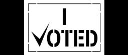 I VOTED Stencils