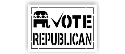 VOTE Republican Stencils