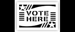 Vote Here Stencils