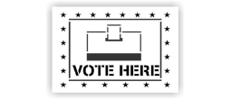 Vote Here Box Stencils