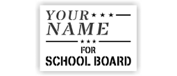 For School Board Stencils