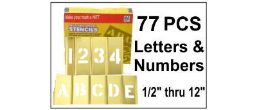 Brass Interlocking Letters and Numbers - 77 Piece Set