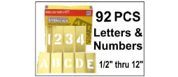 Brass Interlocking Letters and Numbers - 92 Piece Set