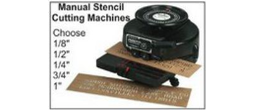 Diagraph and Marsh Stencil Cutting Machines; Manual