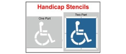Handicap Parking Lot & Street Stencils