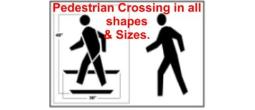 Pedestrian Crossing Street Stencils