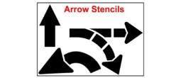 Street Arrow, U-Turn, Turning Stencils