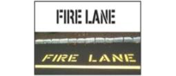 Street Fire Lane Stencils